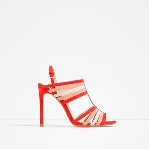 Zara Multicolor Strap Sandals